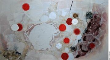 Anu Osva, Snow Algae, Jehkas, acrylic, 2011, photo Heli Tuhkanen